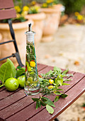 Lime, chilli and herb vinegar