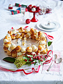 White Chocolate and Caramel Christmas Wreath