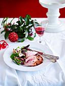 Weihnachtsschinken mit Ahorn- Sherry-Glasur