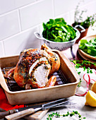 Herbed roast chicken