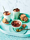 Hot chocolate with hot cross bun spiced biscuits and vanilla bean marshmallow