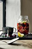 Cod borscht