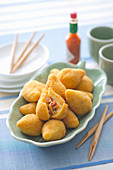 Coxinhas de frango (croquettes with a chicken filling, Brazil)