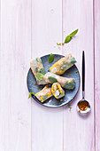 Summer rolls with prawns