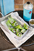 Tuna salad wraps with wasabi cream 'To Go'