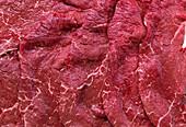 Slices of beef (full frame)