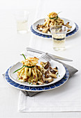 Crêpe parcels with mushrooms and mascarpone