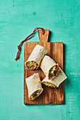 Cheeseburger tortilla wraps