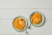 Kürbispüree mit Parmesan