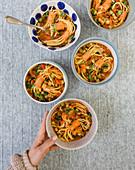 Spaghetti sausage stew