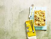 Leek lasagne to take away