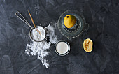 Sodium bicarbonate with buttermilk or lemon juice instead of baking powder
