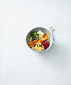 Couscous bowl with glazed carrots