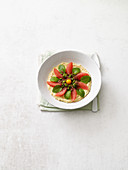 Sunshine bowl with grapefruit and mint