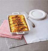 Cannelloni filled with ricotta and lamb ragout