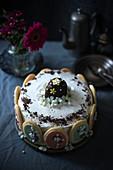 Creamy vegan Easter cake
