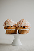 Cupcakes topped with buttercream