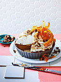 Sweet potato and marshmallow pie