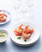 Prawns with Basil Remoulade
