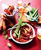 Kimchi Bloody Mary dip
