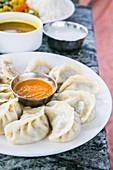 Momo (steamed dumplings, Nepal)