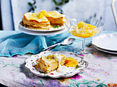 Citrus crepe cake