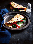 Yoghurt bread piadina with Fontina