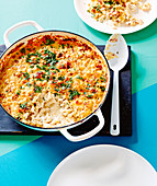Maccheroni And Cheese mit Speck und Biersacue