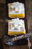Lemon Bars with marshmallow stars