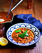 Harira - Lamb soup with chickpeas