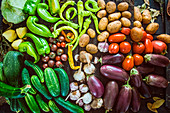 Colourful vegetables (full frame)