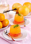 Mandarin jelly with mint