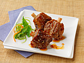 Grilled pork knuckle with sesame seeds