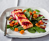 Salmon with beets