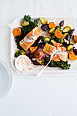 Salmon with superfood vegetables