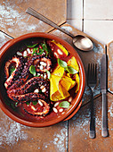 Octopus and bean stew