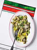 Walnut, oregano and pecorino pesto fusilli