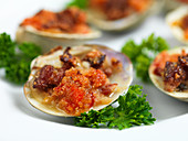 Clams with bread crumbs