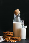 Oat cookies and milk