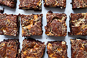 Brownies in Reihen