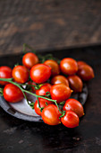 Fresh cherry tomatoes on a dish
