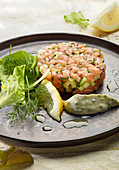 Salmon tartare with remoulade