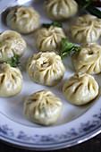 Momos (Teigtäschchen aus Tibet)
