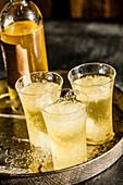 Three glasses of limoncello