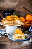 Orange crepe cake