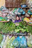 Veg stall in the morning market (Hanoi, Vietnam)
