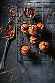 Brownie Bites mit Karamell