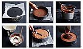 Dunkle Schokoladenmousse-Torte zubereiten