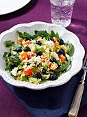 Blueberry couscous salad