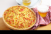 Savoy cabbage tart made with short-crust pastry